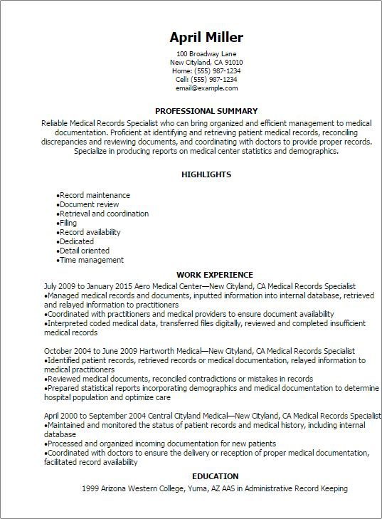 examples of objective for resumes