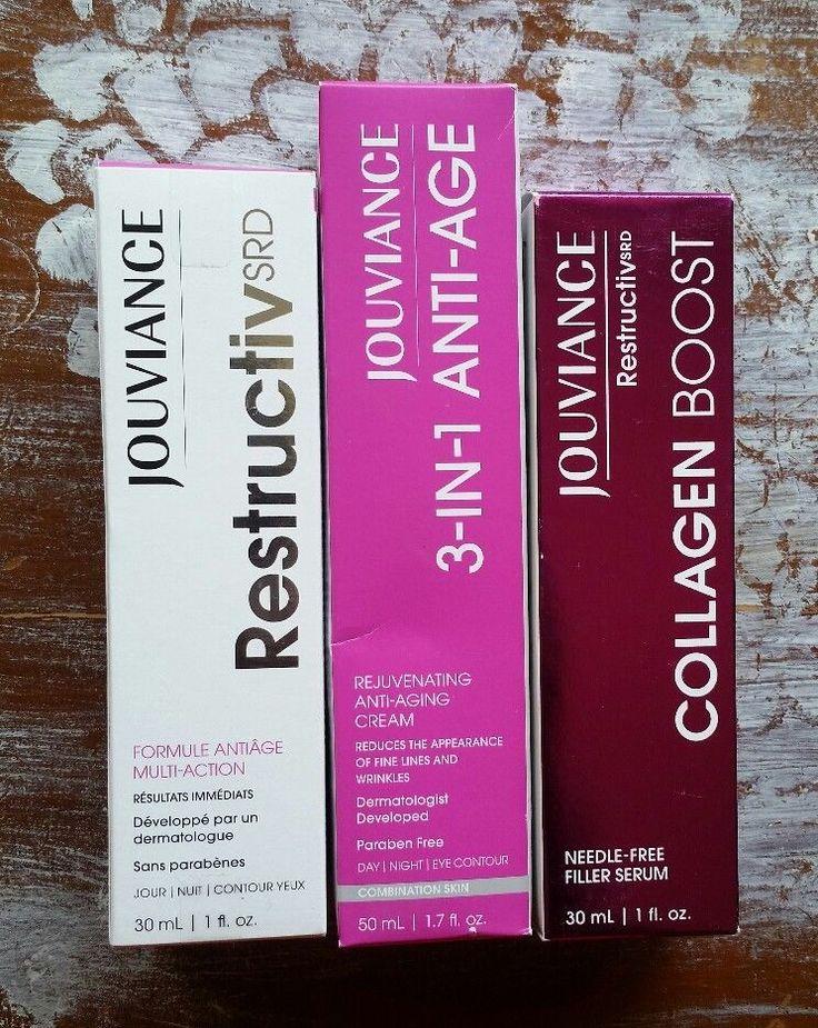 Jouviance skincare bundle: Coactive Anti-Aging, 3-in-1 Cream, Collagen Boost #Jouviance