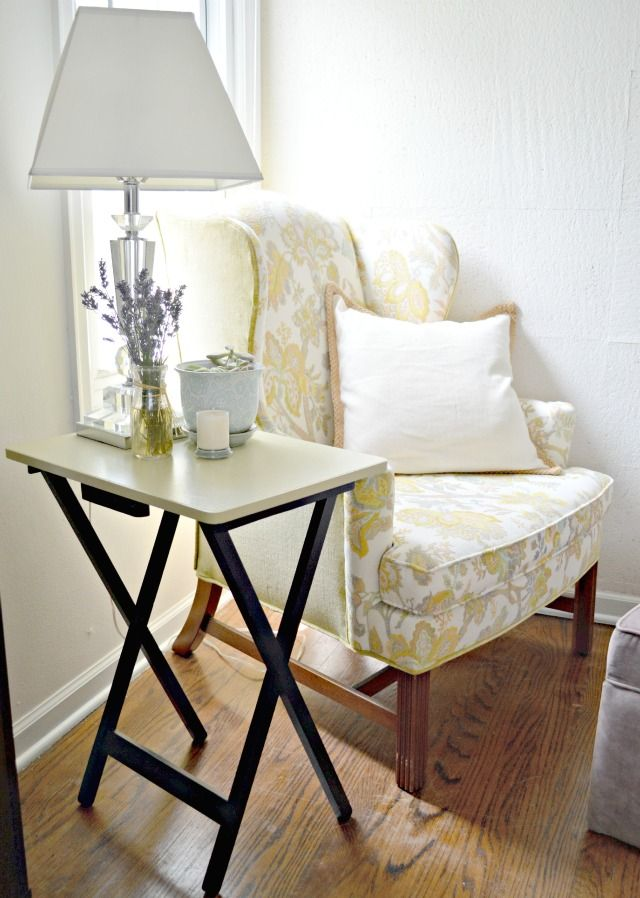 Made With Love by Dana: Repurposed TV Tray Bedside tables!
