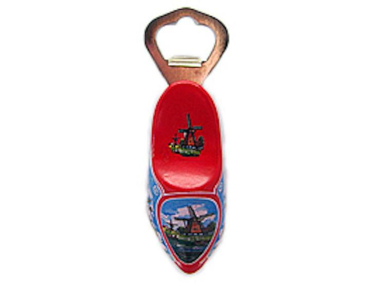 Unique Bottle Opener Fridge Magnet Wooden Shoe