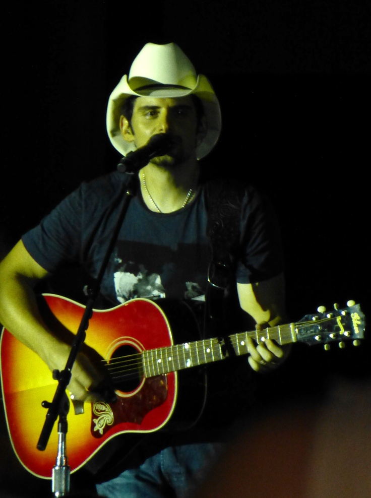 Brad Paisley in concert, Tampa, Sept. 2012 - my photo. Awesome.
