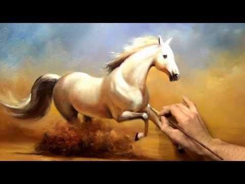 """Южаков урок 19 """"Пишем Коня"""" живопись маслом - YouTube"""