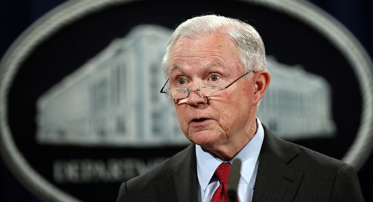 The attorney general has assailed marijuana as comparable to heroin and has blamed it for spikes in violence,