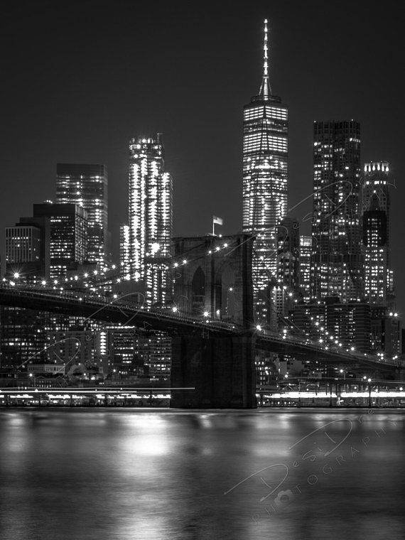 Fine Art Photo Print Black And White New York City Skyline Picture Choose Standard Photo Canvas Metal Or Acrylic Manhattan Wall Art Black And White Photo Wall Black