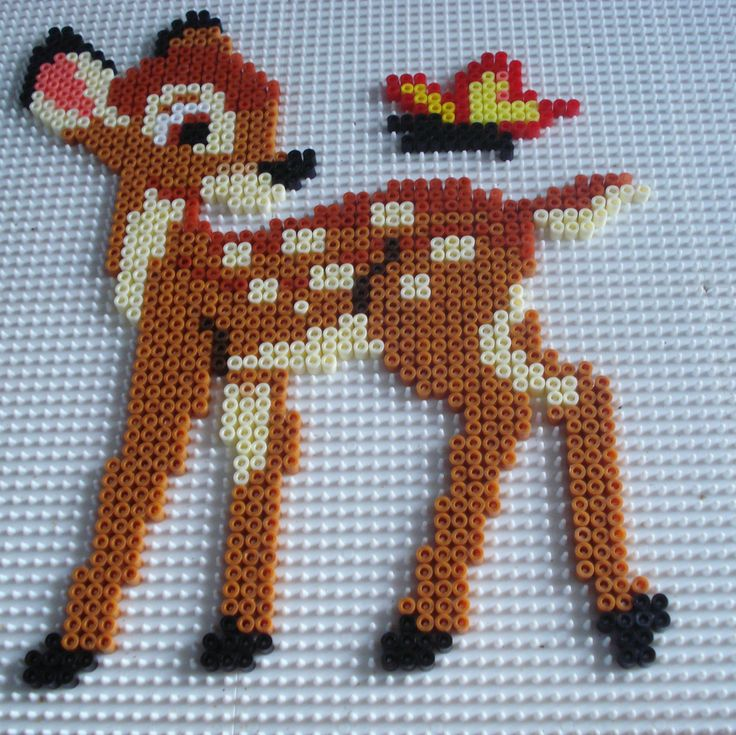 Bambi hama perler beads by Chantal Jacquinet