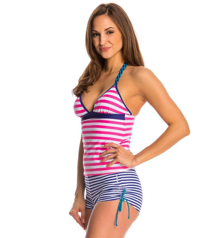 Reebok Turn Up the Heat Mandy Halter Tankini Top at SwimOutlet.com – The Web's most popular swim shop