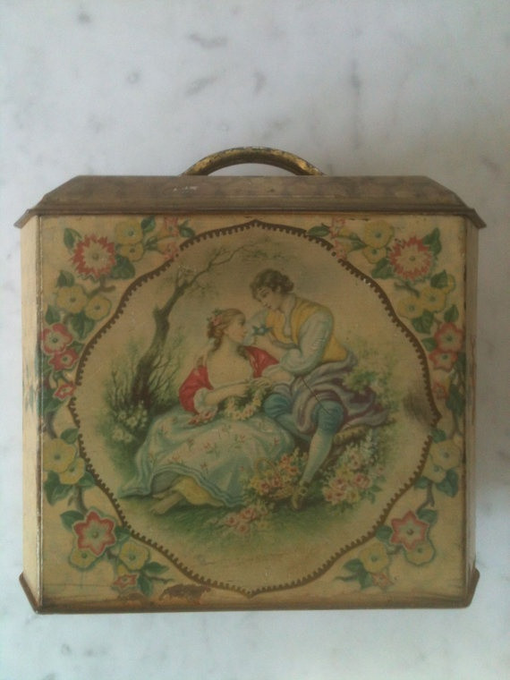 Charming Shabby Chic Victorian Romantic Valentine Tin-CKK Finds + Designs