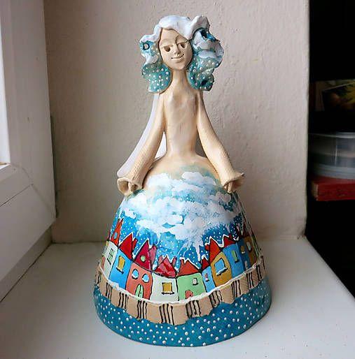 e-keramika / maľovaný anjelik - zvonec