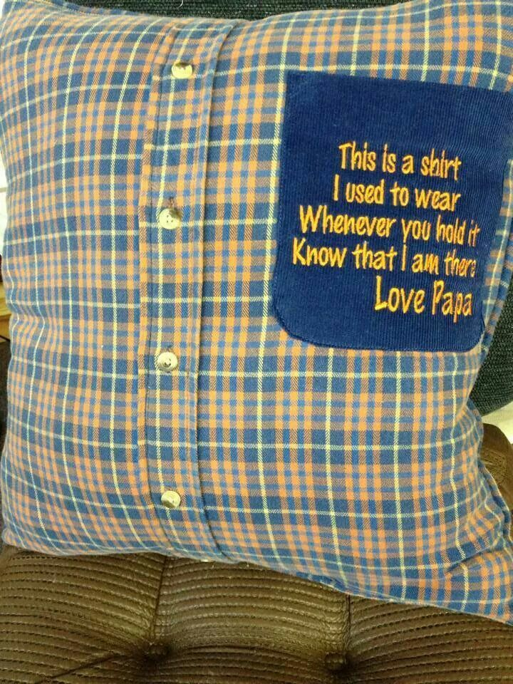 I made pillows out of his ties but this is a cool idea also.