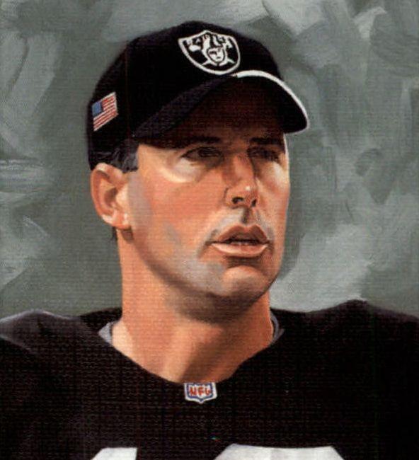 Rich Gannon, QB Raiders by Mike Schroeder, 2002.