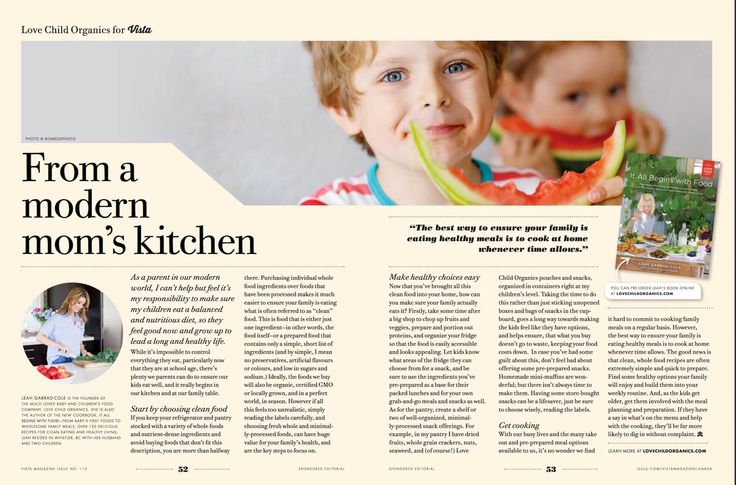 Check us out in the June issue of Vista! Featuring founder Leah Garrard-Cole's Love Child Organics cookbook, It All Begins With Food.