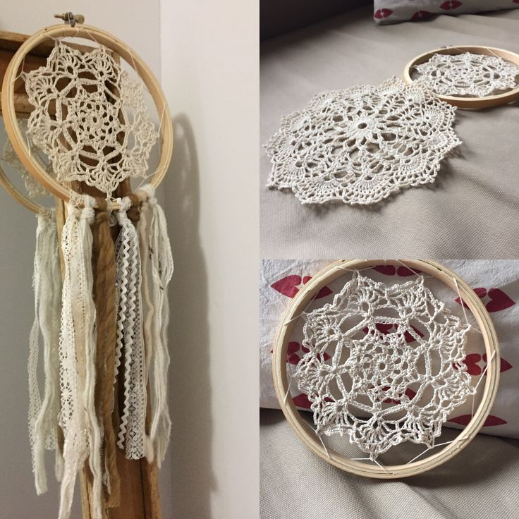 Diy Napperon/attrape rêves #crochet #dentelle #coton