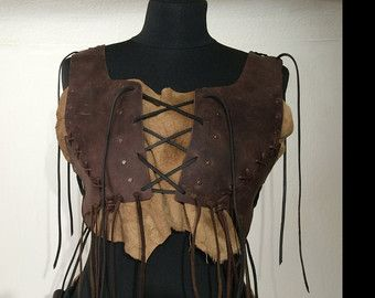 Armor Woman Leather Brustpanzer Festival Leather Top by Elbengard