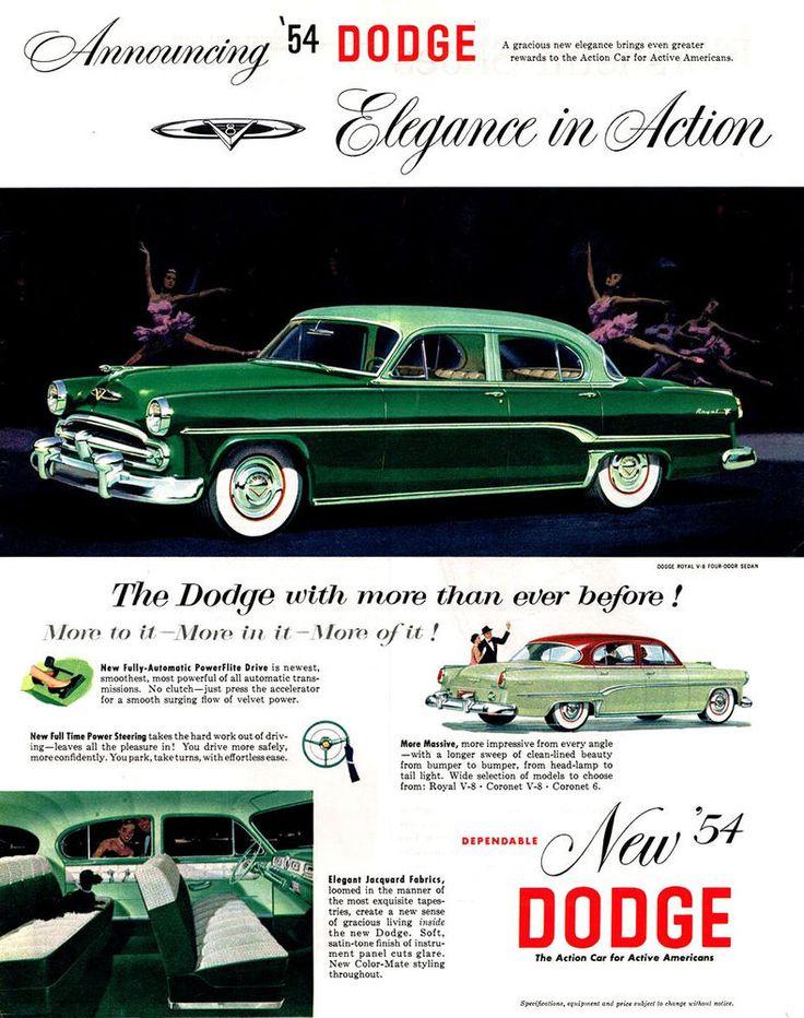 168 best 1954 Dodge images on Pinterest | Cars, Motor car ...