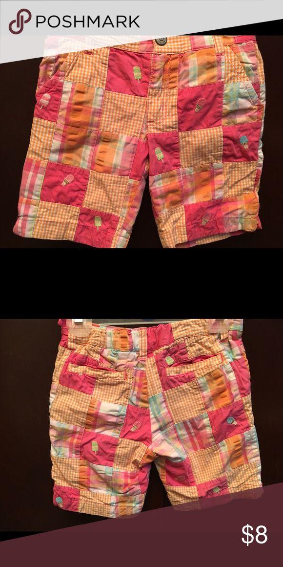 Gymboree ice cream shorts, so cute! Gymboree ice cream shorts, so cute! Patchwork design material with adjustable waist. Gymboree Bottoms Shorts