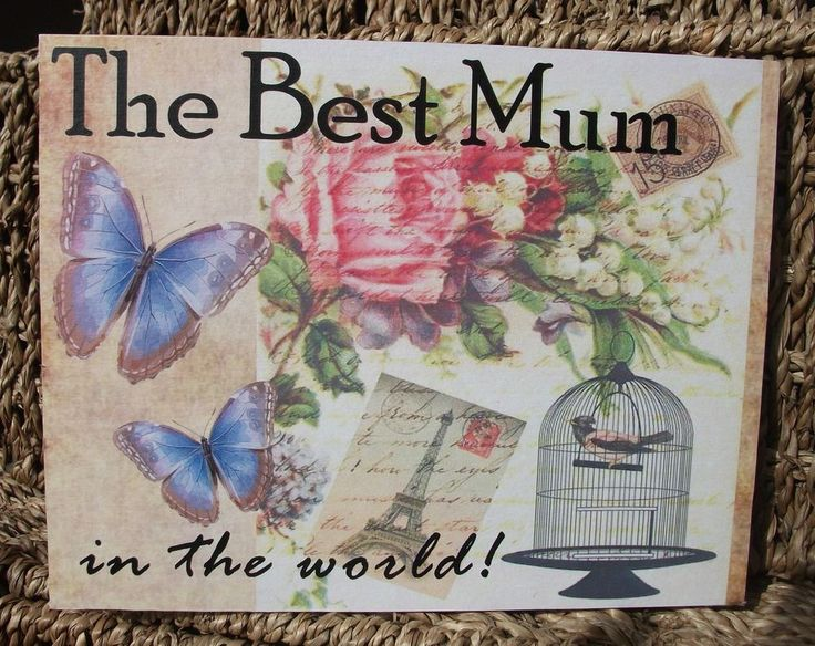 Best mum in the world, mothers day, mummy, mum plaque, gift, handmade plaque