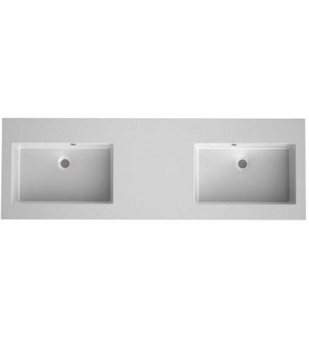 Dit Bruynzeel Matera dubbele composiet wastafel meet 150 x 50 cm. In de kleur matwit is dit badkamermeubel een ware aanwinst voor jouw badkamer. Bruynzeel badkamersanitair; alles voor jouw persoonlijke stijl Iedereen heeft andere wensen