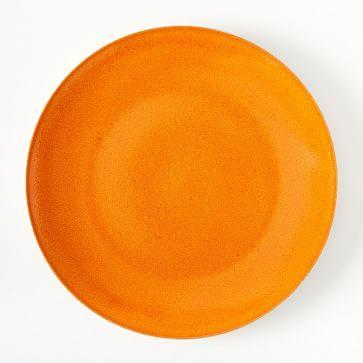 Alta Reactive Glaze Dinner Plates (Set of 4) - Orange #westelm