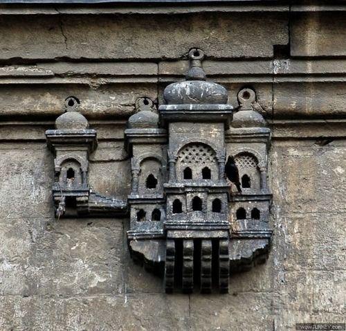 Bird house built into Ayazma Mosque Istanbul, Turkey