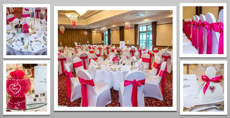 Bright pink colour schemed venue dressing. You can hire venue dressing like this at Natalija.Co Event Planning, find us on facebook, or visit our website, www.natalija.co.uk
