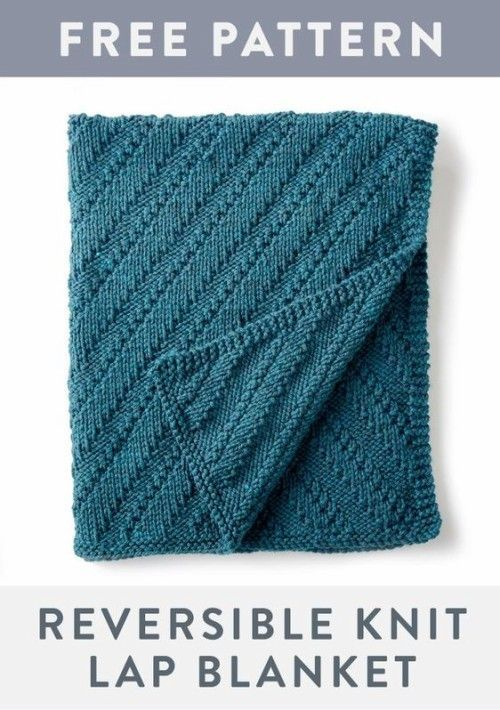 Reversible Knit Lap Blanket Free Pattern Beautiful