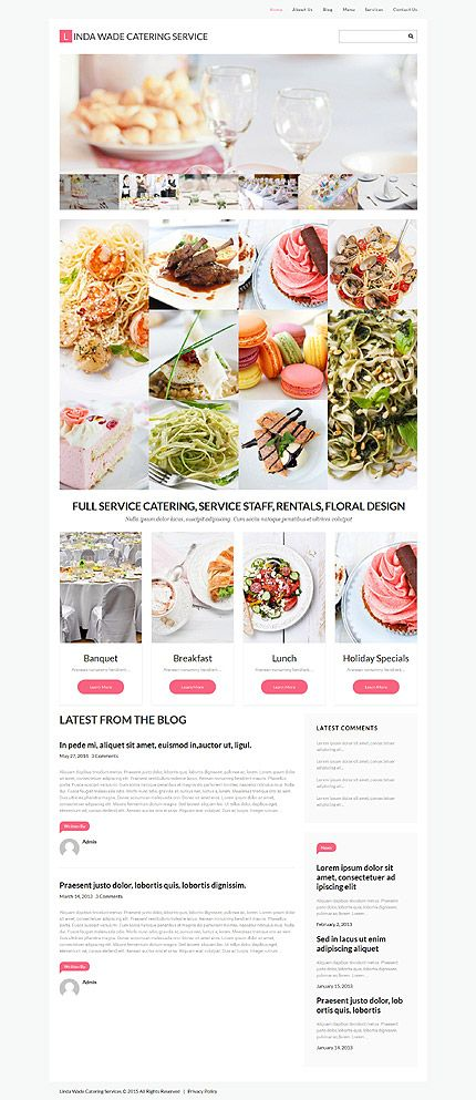 Template 55455 - Linda Wade  Responsive WordPress  Theme