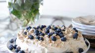 Kake med blåbær