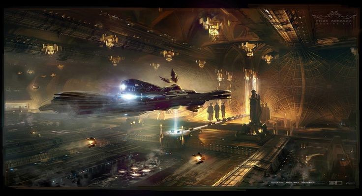 ArtStation - Titus Abrasax Docking Bay Exit concept from Jupiter Ascending, George Hull