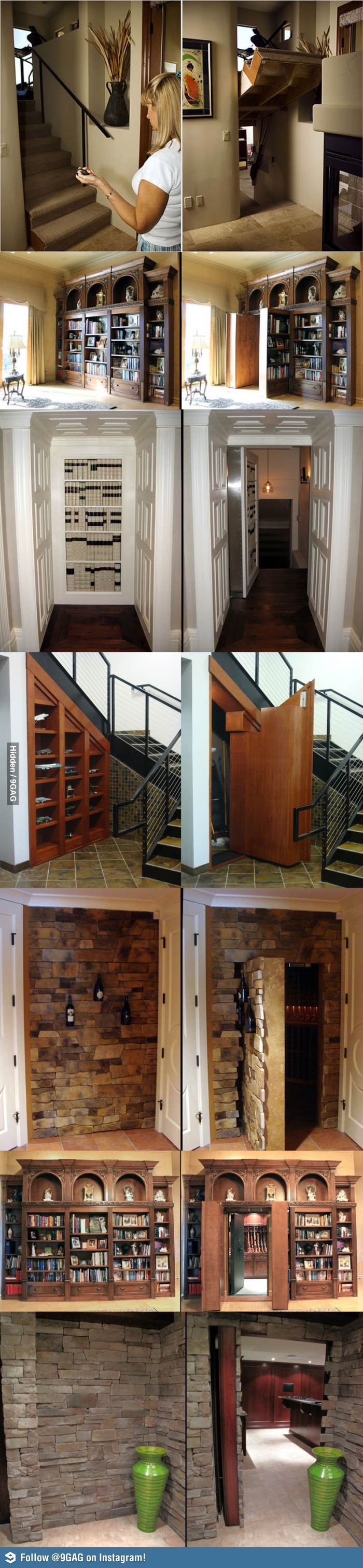 Secret Hidden Passageways For The Home: I need all of these.