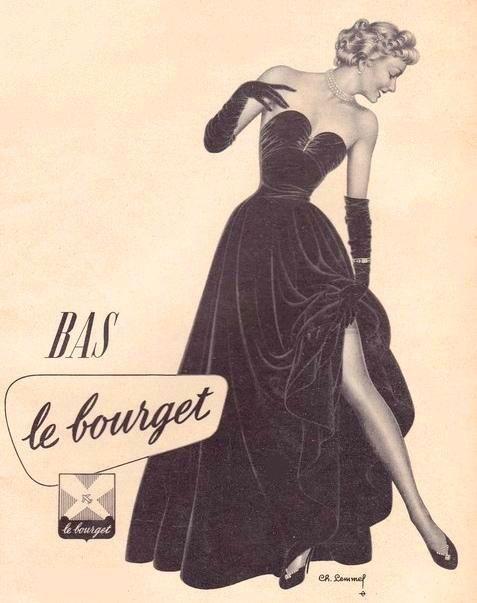 Publicité ancienne Bas Le Bourget
