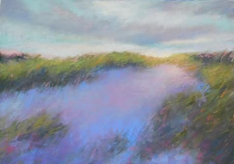 Windswept by Beth Williams, 11.5 x 14.5, pastel on archival paper framed in museum glass, $460