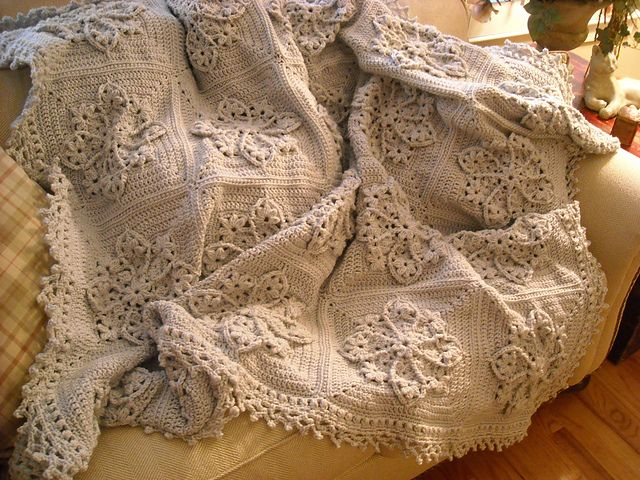 Ravelry: Afghaniac's Gray Stained Glass Afghan