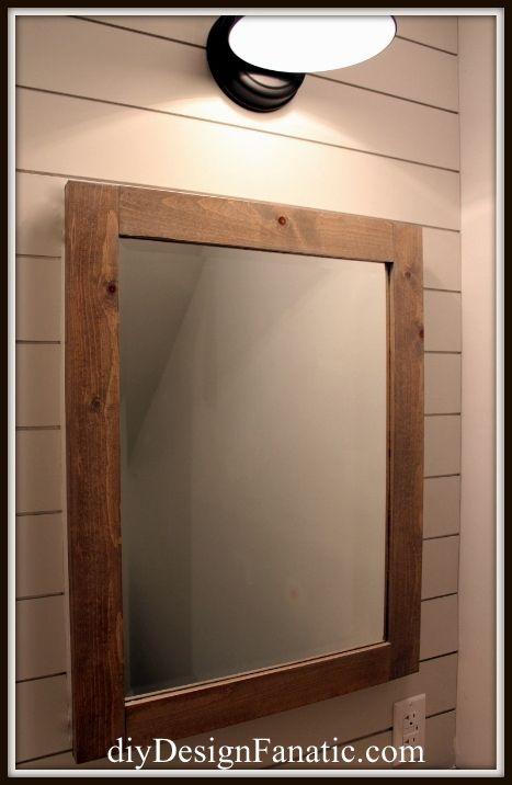 DIY Pottery Barn Inspired Medicine Cabinet--upstairs bathroom!