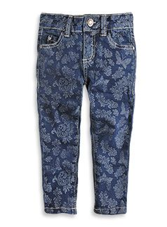 Spring collection 2013: Girl fashion denim floral printed jeans