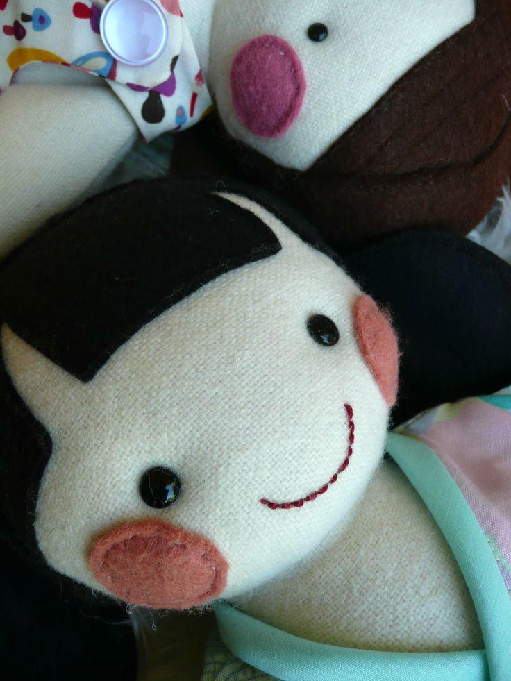 Frazzy Dazzles - the gentle art of making; 'Frazzy Dazzles' dolly. www.frazzydazzles.com