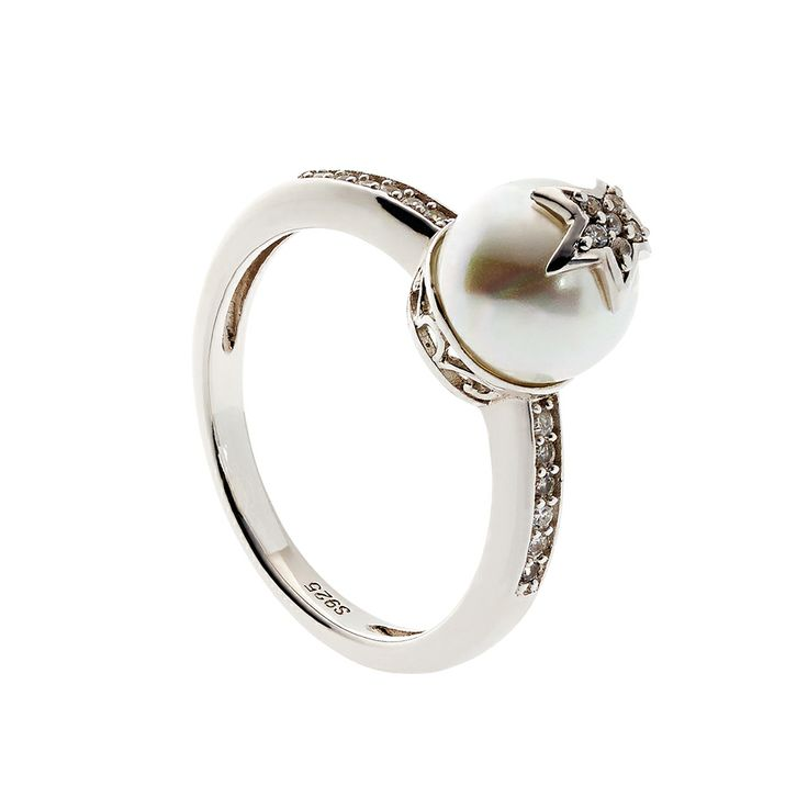 Oxette Silver 925 Ring with zircons - Available here http://www.oxette.gr/kosmimata/daktulidia/silver-ring-with-pearl-and-cz-oxette-617l-1/     #oxette #OXETTEring #jewellery