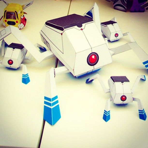 how to build origami robots
