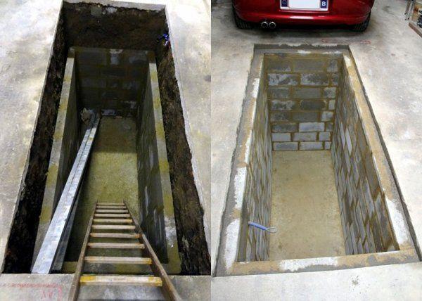 Construction d 39 une fosse dans mon garage for Faire une fosse de garage