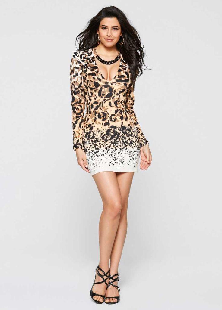 Платье, BODYFLIRT boutique, бежевый с рисунком