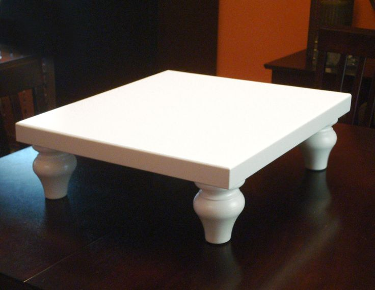 Wedding Cake Stand Square 16 inch White. $119.00, via Etsy.