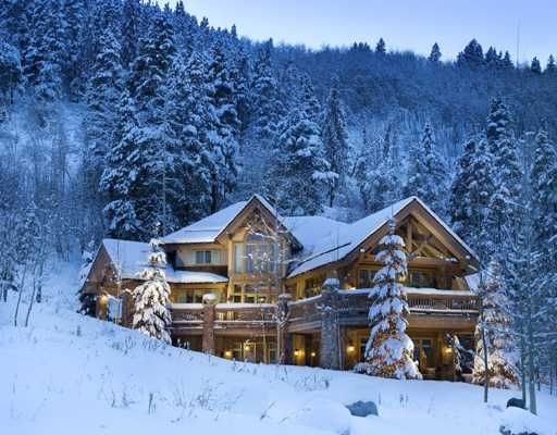17 best images about log homes on pinterest log cabin for Homes in the mountains