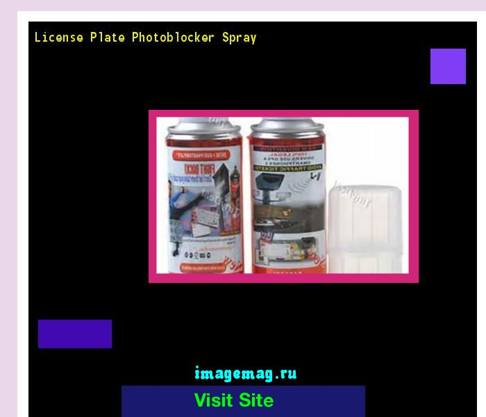 License plate photoblocker spray 182213 - The Best Image Search