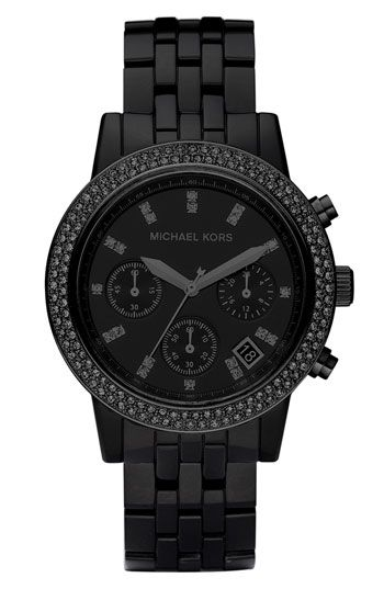 Michael Kors Resin & Crystal Topring Watch | Nordstrom