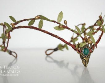 Woodland elf tiara  elven zendspoel  fairy kroon