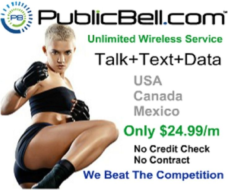 PublicBell Unlimited Wireless Plan SIM Talk Text Data USA Canada Mexico
