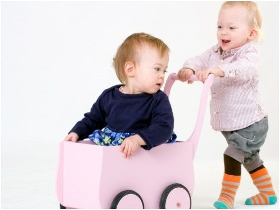 Wooden cart / pushchair / stroller PINK. $65.00, via Etsy. http://www.etsy.com/shop/thewoodenhorse