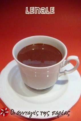 Πηχτή ζεστή σοκολάτα #sintagespareas