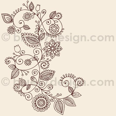 Mehndi Henna Tattoo Paisley Doodles.  So open, free and organic.  I really love this one!