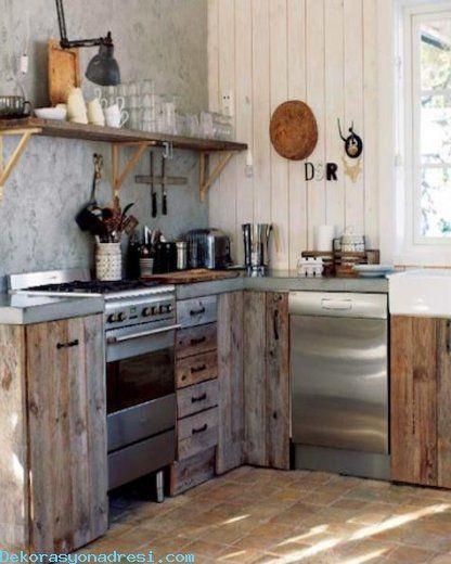 nice Ahşap Paletlerle Mutfak Tasarımları 2016