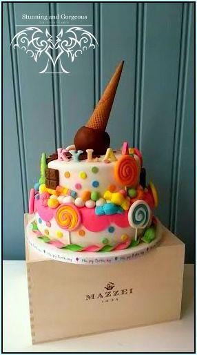 www.stunningandgorgeous.nl - Candy cake